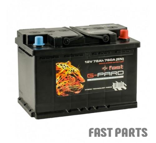 Аккумулятор G-Pard 78 Аh/760А 12V Fast G-Pard Euro(0)