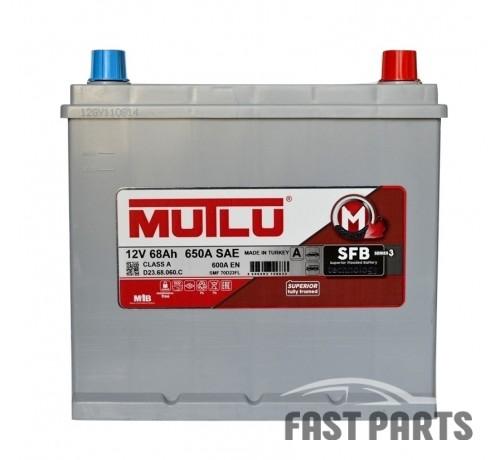 Аккумулятор MUTLU 68AH JR+ без борта ASIA