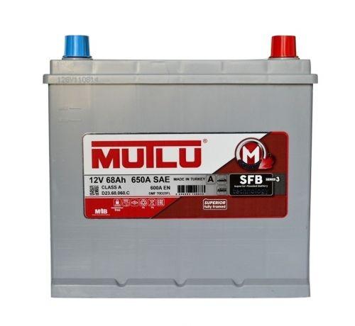Аккумулятор MUTLU 68AH JR+ с бортом ASIA
