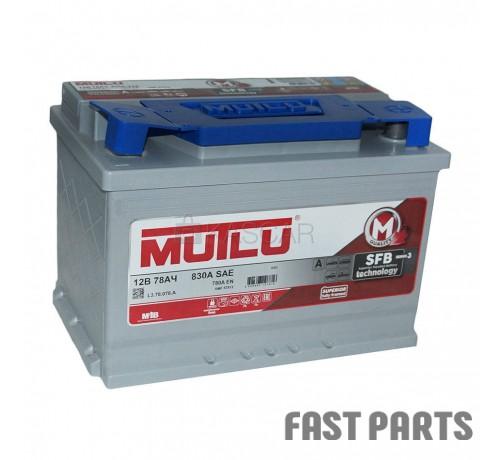 Аккумулятор MUTLU 78AH R+ низкий EURO