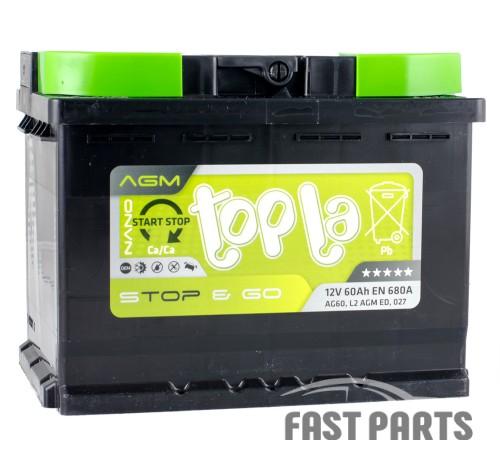Аккумулятор Topla AGM 60Ah/680A 12V Euro (0)