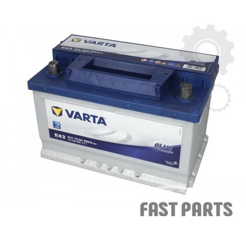 Аккумулятор VARTA B572409068 72Ah/680A