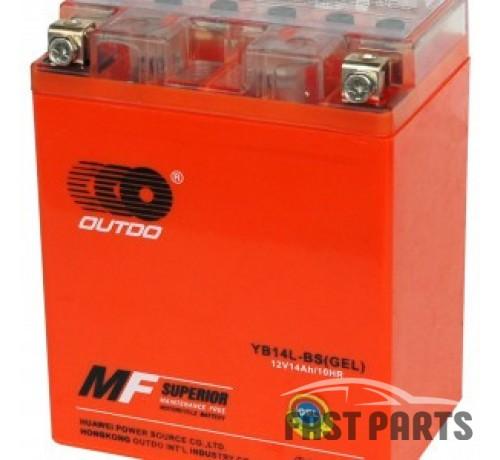 Аккумулятор OUTDO 14 Ah  YB14L-BS (GEL)/(6х)
