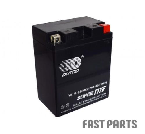 Аккумулятор OUTDO 14 Ah YB14L-BS MF (FA)/(6х)