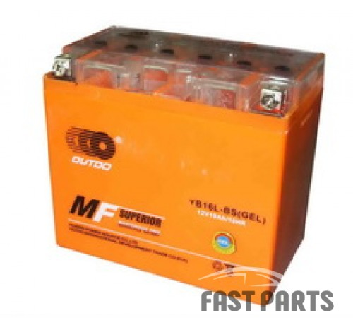 Аккумулятор OUTDO 19 Ah  YB16L-BS (GEL)/(4х)