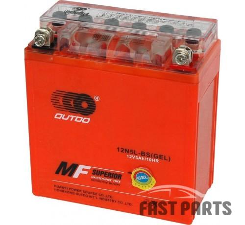 Аккумулятор OUTDO 5 Ah 12N5L-BS (GEL)/(10х)