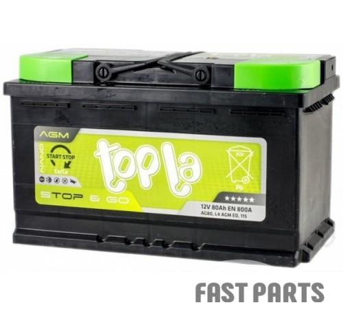 Аккумулятор Topla AGM 80Ah/800А 12V Euro (0)