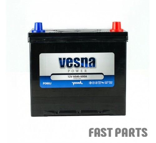 Аккумулятор Vesna 60 Ah/600А 12V Japan (0)