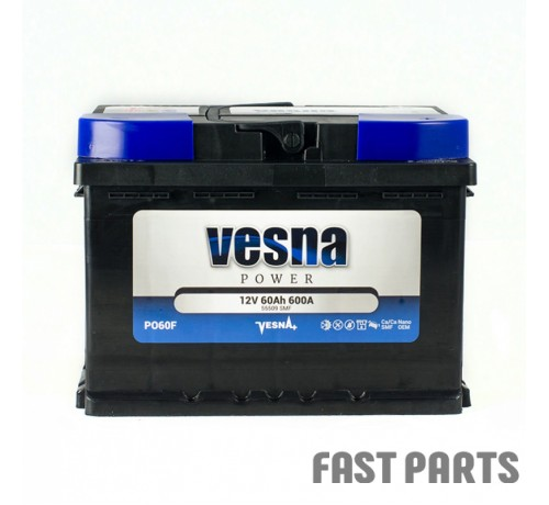 Аккумулятор Vesna Power 60 Ah/600А 12V Euro (0)