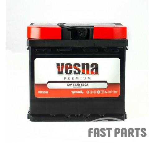 Аккумулятор Vesna Premium 55 Ah/560А 12V Euro(0)
