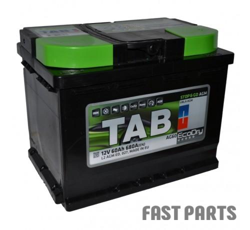 Аккумулятор TAB AGM 60 Ah/680А 12V (0) Euro