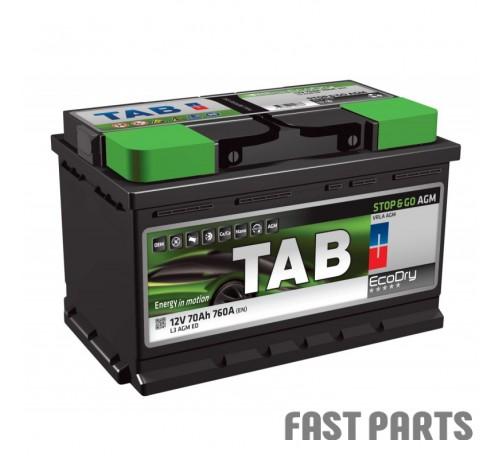 Аккумулятор TAB AGM 70 Ah/760А 12V (0) Euro