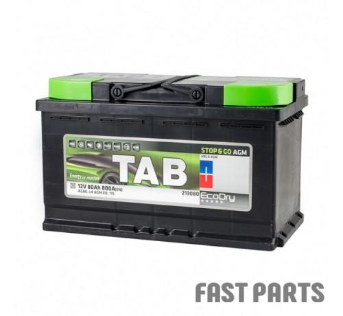 Аккумулятор TAB AGM 80 Ah/800А 12V (0) Euro