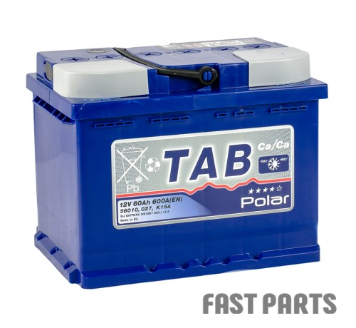 Аккумулятор TAB Polar Blue 60 Ah/600А 12V (0) Euro