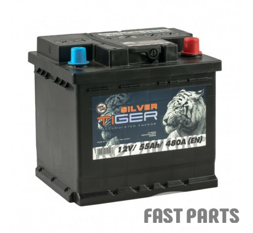 Аккумулятор Tiger Silver 55 Аh/480А 12V Silver Euro (0)