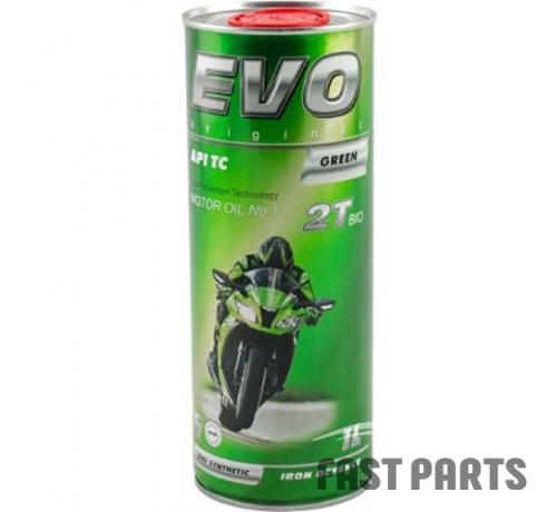 Масло для 2-х тактных двигателей EVO MOTO 2T BIO (GREEN) 1L