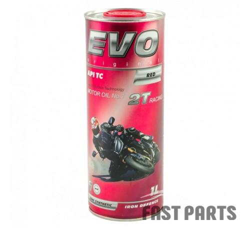Масло для 2-х тактных двигателей EVO MOTO 2T RACING (RED) 1L