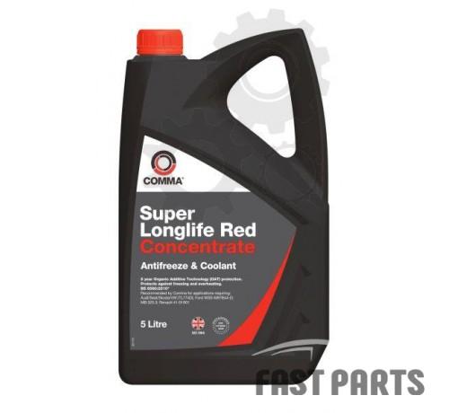 Антифриз COMMA SUPER LL RED KONC. 5L (тип G12)